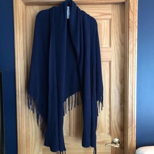 Chico's blue sweater shawl in L/XL